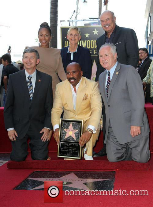 Ellen Degeneres, Marjorie Bridges-woods, Leron Gubler, Dr. Phil Mcgraw, Steve Harvey and Councilman Tom Labonge 2