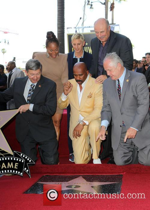 Leron Gubler, Marjorie Bridges-woods, Ellen Degeneres, Dr. Phil Mcgraw, Steve Harvey and Councilman Tom Labonge 4