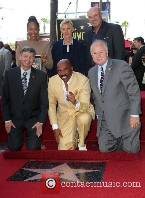 Leron Gubler, Marjorie Bridges-woods, Ellen Degeneres, Dr. Phil Mcgraw, Steve Harvey and Councilman Tom Labonge 5