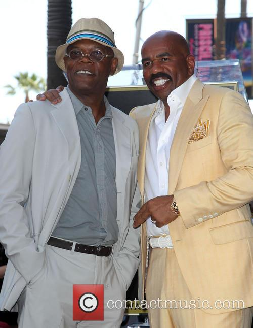 Samuel L. Jackson and Steve Harvey 1