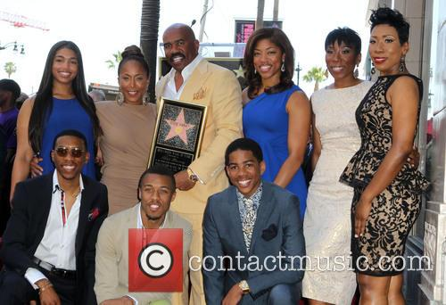 Steve Harvey, Marjorie Bridges-woods, Wynton Harvey, Brandi Harvey, Karli Harvey and Broderick Harvey Jr. 2