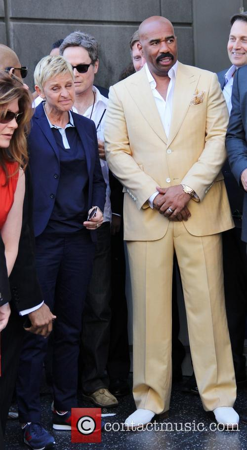 Steve Harvey and Ellen DeGeneres 1
