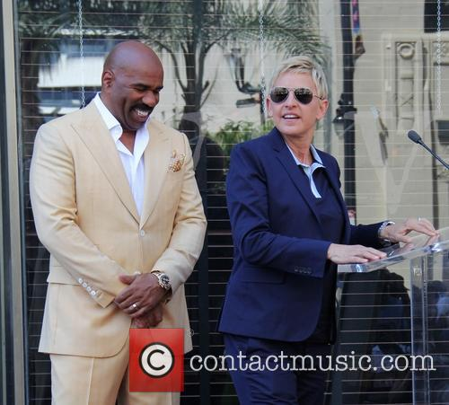 Steve Harvey and Ellen DeGeneres 4