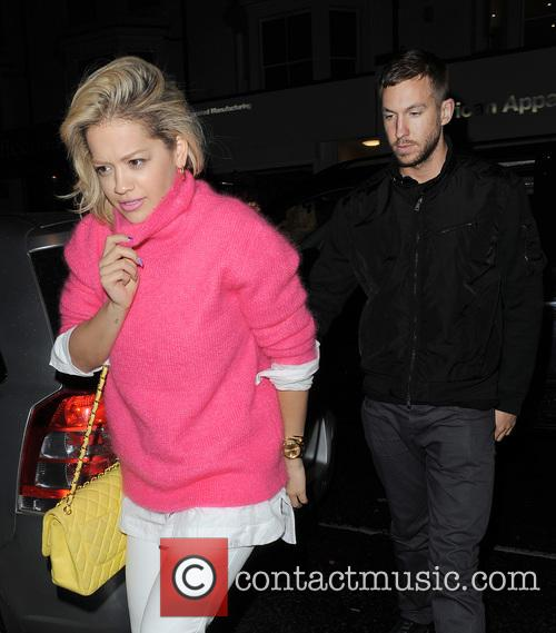 Rita Ora and Calvin Harris 1