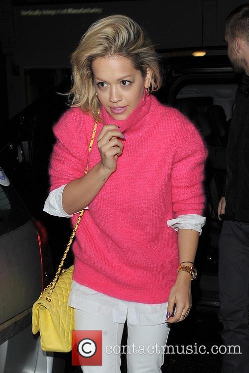 Rita Ora And Calvin Harris At Electric Cinema