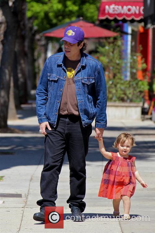 Benicio Del Toro and Delilah Del Toro 2