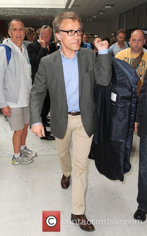 christoph waltz celebrities arrive at nice airport 3662661