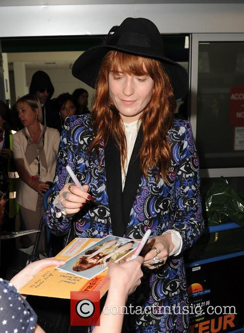 florence welch celebrities arrive at nice airport 3662664