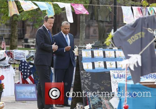 David Cameron and Massachusetts Gov. Deval Patrick 3