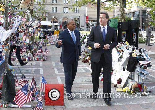 David Cameron and Massachusetts Gov. Deval Patrick 4