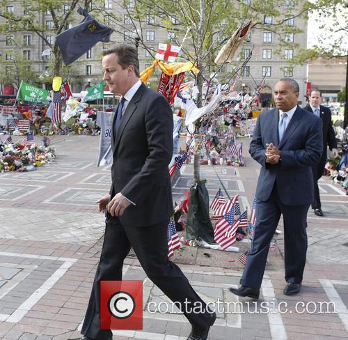 David Cameron and Massachusetts Gov. Deval Patrick 5
