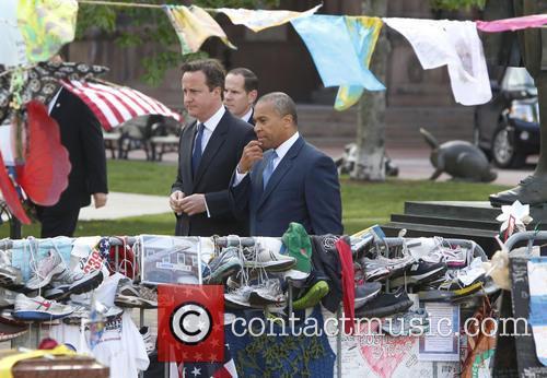 David Cameron and Massachusetts Gov. Deval Patrick 6