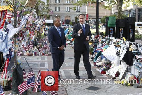 David Cameron and Massachusetts Gov. Deval Patrick 7