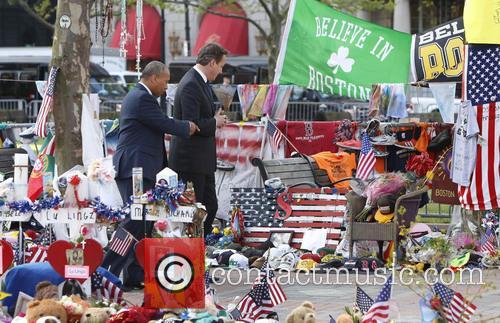 David Cameron and Massachusetts Gov. Deval Patrick 8