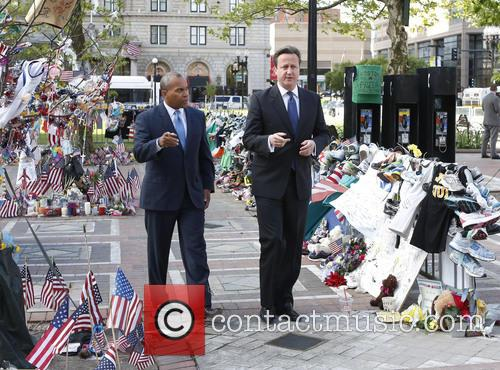 British prime minister David Cameron and Massachusetts Gov....