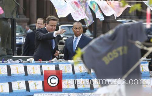 David Cameron and Massachusetts Gov. Deval Patrick 11