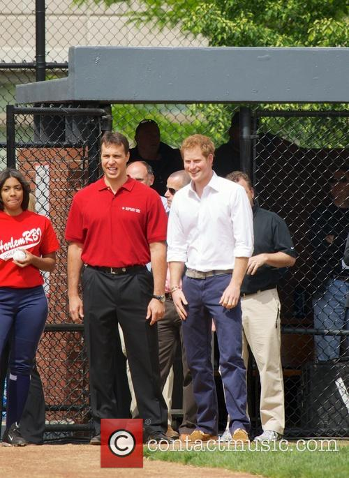 Prince Harry, Mark Teixeira and Harlem 4