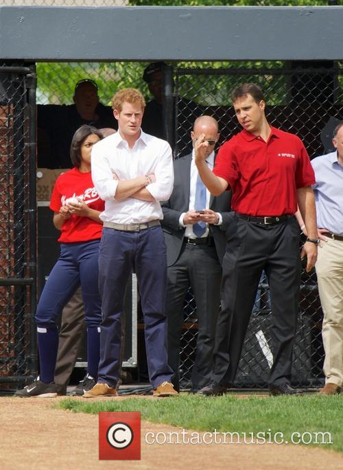 Prince Harry, Mark Teixeira and Harlem 5