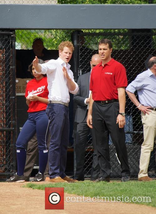 Prince Harry, Mark Teixeira and Harlem 9