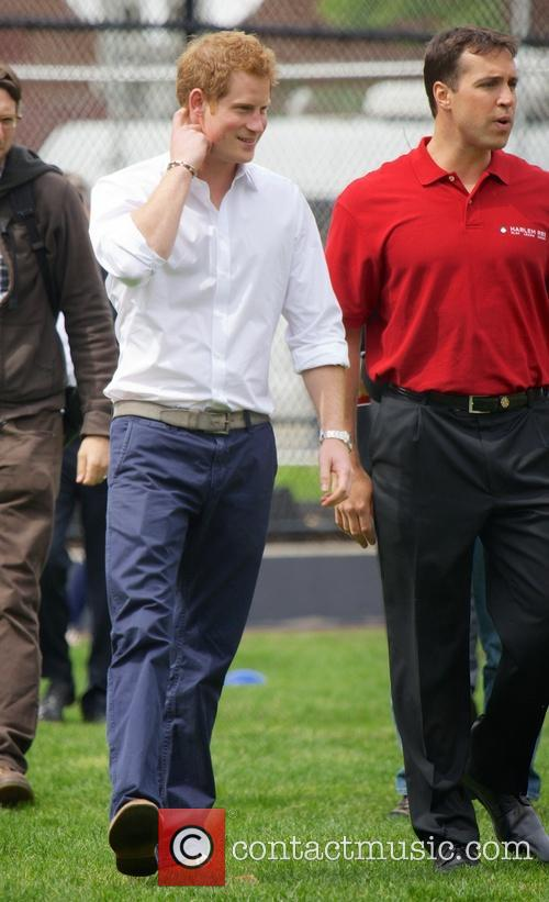 Prince Harry, Mark Teixeira and Harlem 10