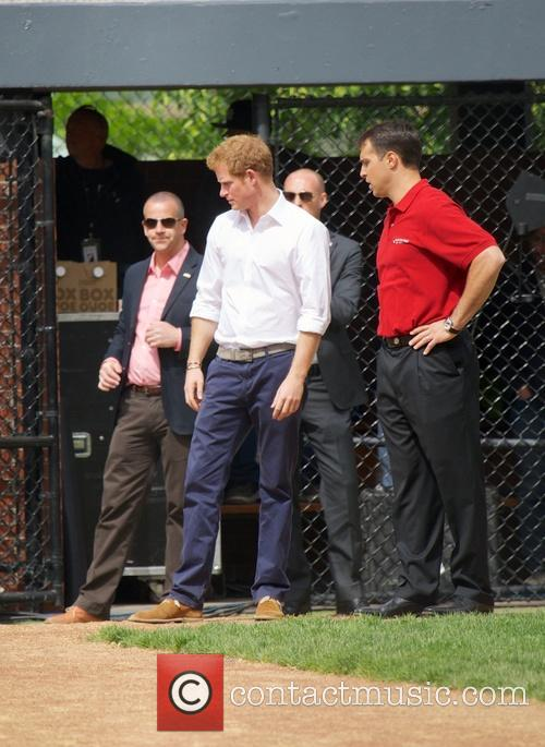 Prince Harry, Mark Teixeira and Harlem 12