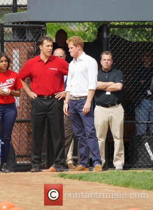 Prince Harry, Mark Teixeira and Harlem 13