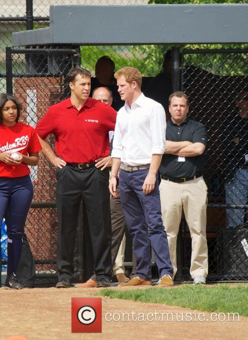 Prince Harry, Mark Teixeira and Harlem 14