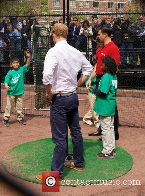 Prince Harry, Mark Teixeira and Harlem 15
