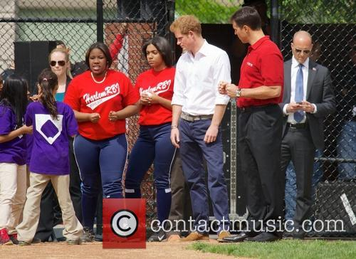 Prince Harry, Mark Teixeira and Harlem 16