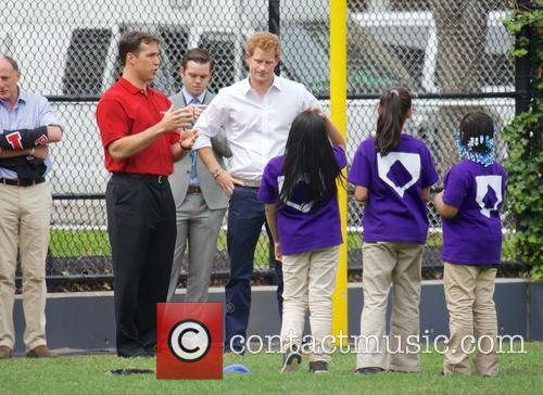 Prince Harry, Mark Teixeira and Harlem 17