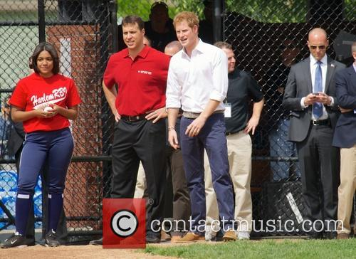 Prince Harry, Mark Teixeira and Harlem 18