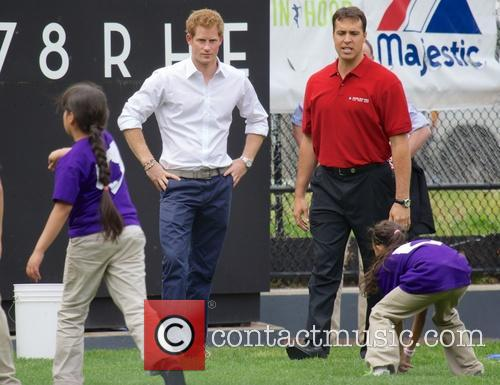 Prince Harry, Mark Teixeira and Harlem 19