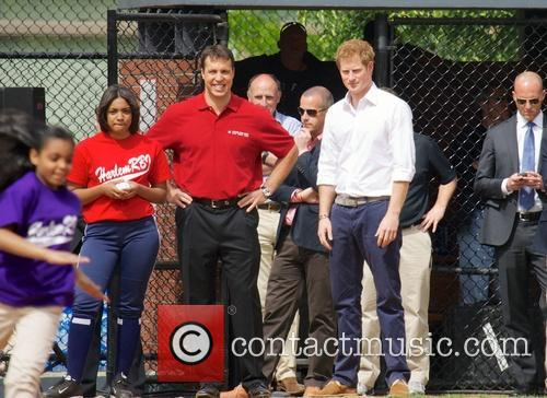 Prince Harry, Mark Teixeira and Harlem 21