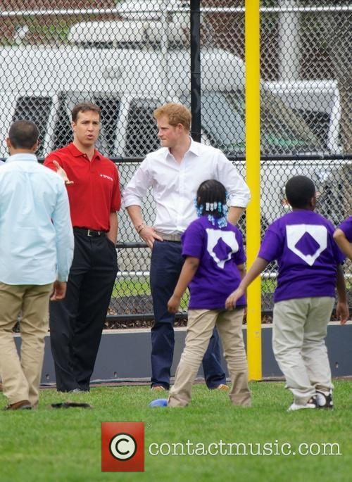 Prince Harry, Mark Teixeira and Harlem 24