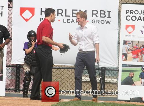Prince Harry, Mark Teixeira, Harlem