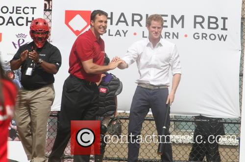 Prince Harry, Mark Teixeira and Harlem 28