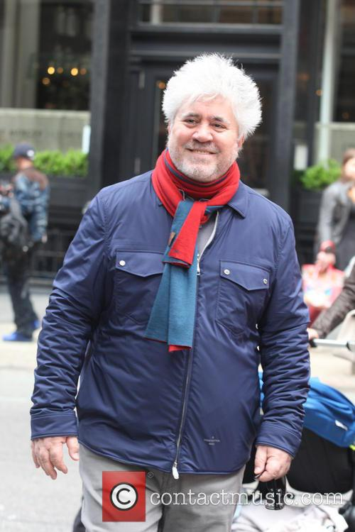 Pedro Almodovar seen out and about