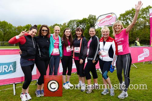 Camilla Dallerup, Lorraine Kelly, Rosie Kelly, Linda Barker, Cheryl Baker, Arabella Weir, Nadia Swahala and Jane Wake 2