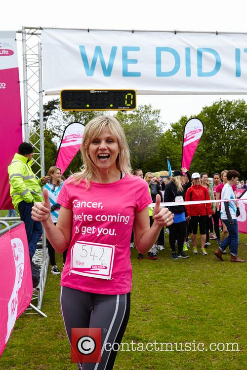 Lorraine Kelly takes part in Cancer Research UK's...