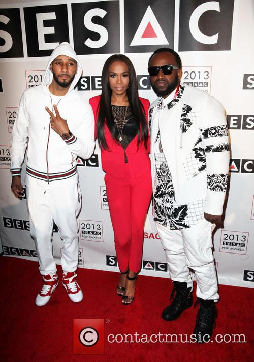 Swizz Beatz, Michelle Williams and Rico Love 4