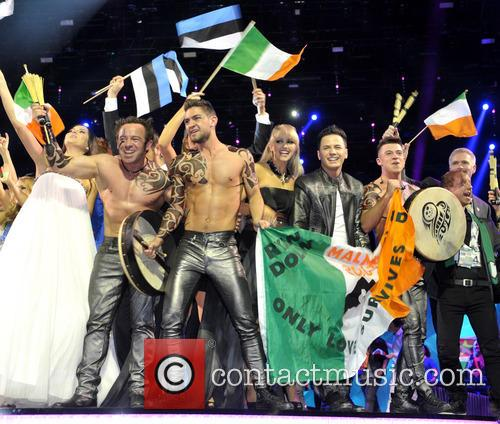 Ireland's Ryan Dolan celebrates his progression into the...
