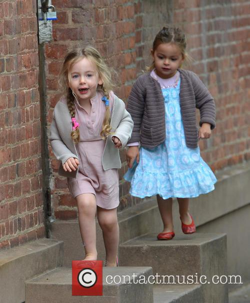 Marion Broderick and Tabitha Broderick seen running in...