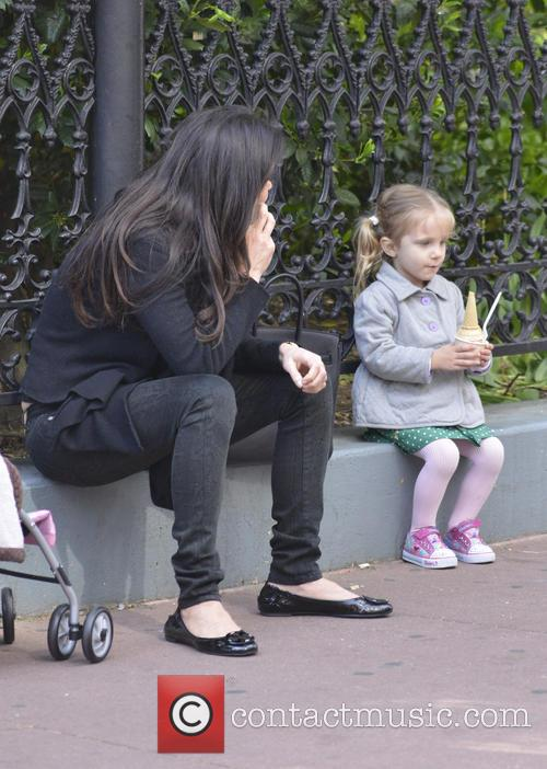 Bethenny Frankel and daughter seen at the park