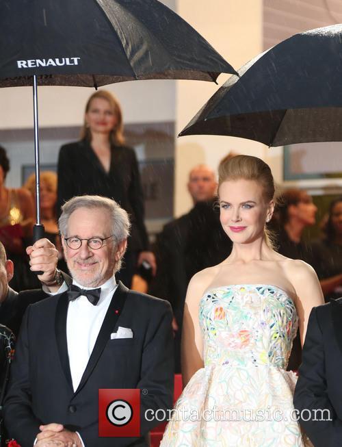 Steven Spielberg and Nicole Kidman