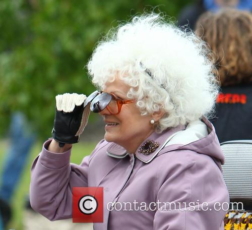 Harry Hill and Julie Walters film scenes for...