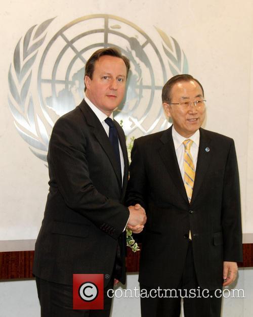 David Cameron and Un Secretary General Ban Ki-moon 4
