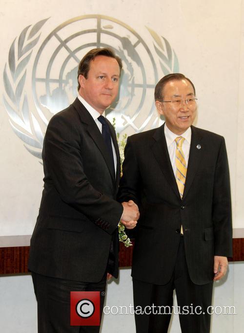 David Cameron and Un Secretary General Ban Ki-moon 5