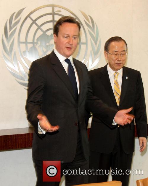 David Cameron and Un Secretary General Ban Ki-moon 7