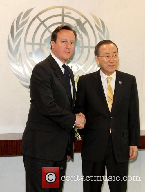 David Cameron and Un Secretary General Ban Ki-moon 1