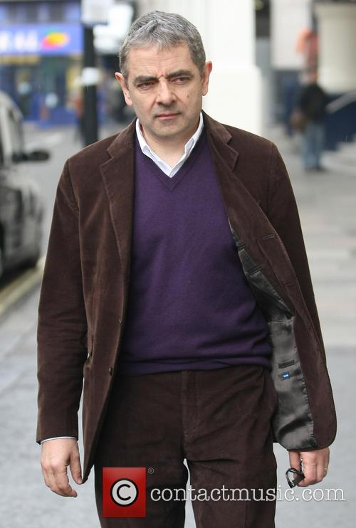 Rowan Atkinson leaving the Royal Theatre